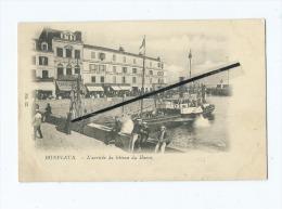 CPA -   Honfleur  - L'Arrivée Du Bateau Du Havre - Honfleur