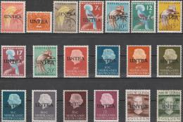 """Niederl.NEUGUINEA  Interimsverwaltung Der UNO In West-Neuguinea UNTEA 1-19 I/II """"UNTEA"""" MNH / ** / Postfrisch - Briefmarken"""