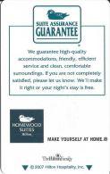 Homewood Suites By Hilton @2007 - Hotel Keycards