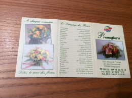 """Calendrier 2001 (3 Volets) """"Promoflora Draguignan (83) (fleur)"""" (9,6x18cm) - Calendarios"""