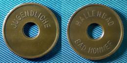 02971 GETTONE TOKEN JETON JUGENDLICHE HALLENBAD BAD HONNEF HOLED - Zonder Classificatie