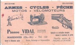Buvard Pierre Vidal Armurier Breveté à Marennes (Charentes Maritimes) Armes Cycles Pêche Motos Vélomoteurs - Sports