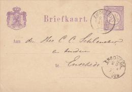 Briefkaart 25 Jun 1878 Zwolle (kleinrond) Naar Enschede (tweeletter) - Poststempels/ Marcofilie