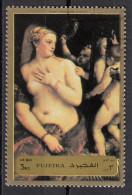 """1263 Fujeira 1972 """" Venere Allo Specchio """" Quadro Dipinto Da Tiziano Vecellio Titian Preoblt. Paintings Tableau - Nudes"""