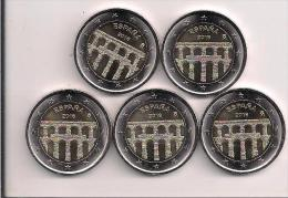 LOTE 5 MONEDA 2 EUROS ESPAÑA 2016 ACUEDUCTO SEGOVIA - Monedas & Billetes