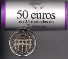 LOTE 25 MONEDA 2 EUROS ESPAÑA 2016 ACUEDUCTO SEGOVIA - Monedas & Billetes