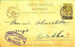1909, Bastogne Nr Ortho - Ganzsachen