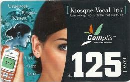 Mauritius - Cellplus - Woman With Phone Kiosque Vocal 167, 31-12-2006, Used - Mauritius