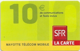 Mayotte - SFR - Yellow Bottom Band, Exp. 12-2008, Used - Autres - Océanie