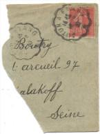 FRANCIA - France - 1930 - 50c - Fragment - Viaggiata Da Autun à Etang - Storia Postale