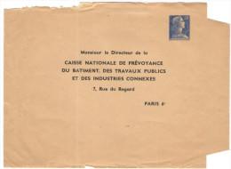 FRANCIA - France - 20F Marianne Muller - Monsieur Le Directeur De La Caisse Nationale De Prévoyance Du Batiment, Des ... - Biglietto Postale