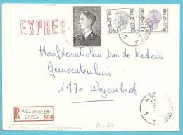 879A.P.+1645+1744 Op Brief Aangetekend Per EXPRES Met Stempel WEZEMBEEK-OPPEM - 1970-1980 Elström