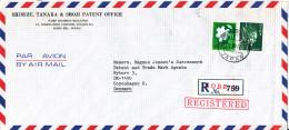 Japan Registered Air Mail Cover Sent To Denmark Kobe Y 25-3-1983 - Posta Aerea