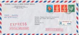 Japan Registered Air Mail Cover Sent To Denmark Kobe Y 20-5-1982 - Posta Aerea