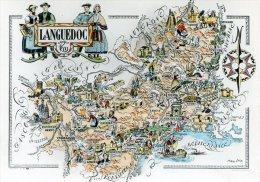 Carte Géographique Du Languedoc - Maps