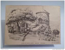 BUÇACO CAPELA DE SANTO ANTÃO   PORTUGAL   Art 1950year Postcard - Sonstige