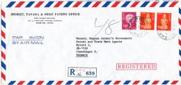 Japan Registered Air Mail Cover Sent To Denmark Kobe Y 18-12-1979 - Posta Aerea