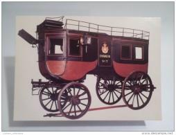 - POSTCARD PORTUGAL RAIL COACH POST-OFFICE MAIL STAGE HORSE COACH LISBON PORTO Horse Cart - Postal Services