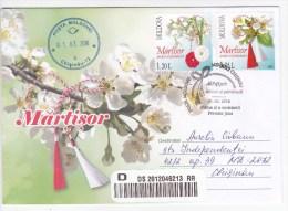 2016 , Moldova ,  Moldavie ,  Moldau , National Holiday Of Spring , Martisor , Flowers,  Privat FDC - Moldova