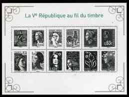 """Blocs-feuillet De 2013 """"Ve République Au Fil Du Timbre + Marianne Et La Jeunesse 2013"""" (sous Blister) - Sheetlets"""