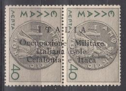 Italy Occupation In WWII Cefalonia & Itaca 1941 Sassone#14 Mint Hinged - Cefalonia & Itaca
