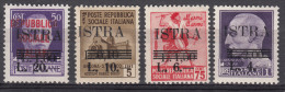 Italy Occupation In WWII Yugoslavia Istria, Pola Issue 1945 Sassone#37-40 Mi#34-37 Mint Never Hinged