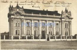 31882 ROMANIA RUMANIA TEMESVAR TIMIșOARA NATIONAL BANK POSTAL POSTCARD - Romania