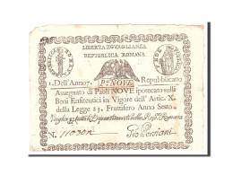 États Italiens, 9 Paoli, 1798, KM:S539, Undated, TB - [ 2] 1946-… : Républic