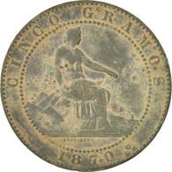 Espagne, Gouvernement Provisoire, 5 Centimos, 1870, KM:662 - [ 1] …-1931 : Royaume