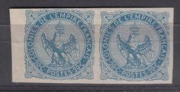 France Colonies General Issues 1859 Yvert#4 Pair, Mint Hinged