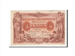 Belgique, 5 Francs, 1919, KM:74b, 1919-01-25, TTB - [ 2] 1831-... : Royaume De Belgique