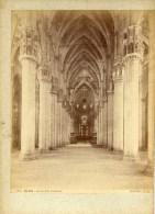 ITALIE-MILANO- Interno Della Cattedrale Tirage Albuminé Monté Sur Carton Circa 1880  Edizioni BROGI - Lieux
