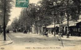 75  Paris  14è Rue D´Alésia Prise De La Rue Des Plantes Très Animée ELD - District 14