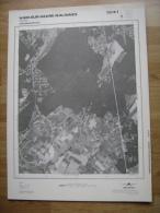 GRAND PHOTO VUE AERIENNE 66 Cm X 48 Cm De 1979  HAM SUR HEURE NALINNES HAIES - Cartes Topographiques