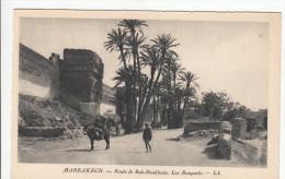 Lot Of 4 Post Cards - Morocco Maroc  Marrakesh Marrakech - Street Views - Mosquée Mosquee - 4 Scans - Marrakesh