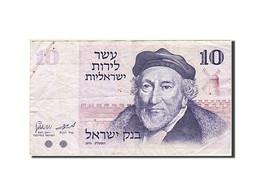 Israel, 10 Lirot, 1973-1975, KM:39a, 1973, TB - Israel