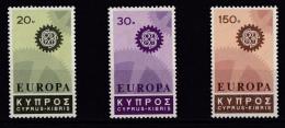 Cyprus, (Sc #297-99) MNH  (Set Of 3), Europa 1967 - Cyprus (Republic)