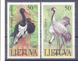 1992. Lithuania, Birds, 2v, Mint/** - Lithuania