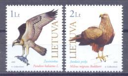 2000. Lithuania, Birds, 2v, Mint/**