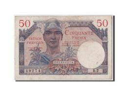 France, 50 Francs Trésor Français Type 1947, Non Daté (1947), KM:M8, VF31.1, TTB - Treasury