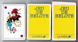 JEU DE 32 CARTES + 1 JOKER AVEC ETUI JEU DE BELOTE LA POSTE CARTES A JOUER HERON MADE IN FRANCE - Cartes à Jouer Classiques