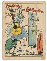 LIVRET FABLES DE LA FONTAINE ILLUSTRE PAR JOE BRIDGE LA CIGALE ET LA FOURMI - Collections