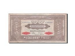 Pologne, 50,000 Marek, 1922-1923, KM:33, 1922-10-10, TTB+ - Pologne