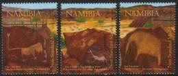 Namibia - 2008 Twyfelfontein Rock Paintings Set (**) # SG 1106-1108 - Archaeology