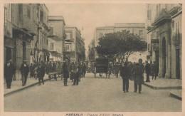 10300-MARSALA(TRAPANI)-PIAZZA XXVIII OTTOBRE-ANIMATISSIMA-1934-FP - Marsala