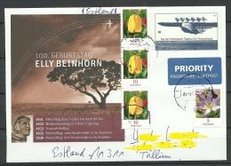 DEUTSCHLAND 2016 Brief Nach Estland Flieger Elly Beinhorn Ganzsache Tag Der Briefmarke Flugzeug - BRD