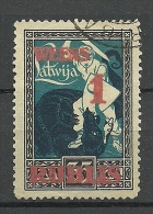 LATVIA Lettland 1919 Michel 60 O Überdruckfälschung ? OPT Fake ?? - Lettland