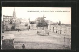 CPA Montpellier, La Croix Du Peyrou Et La Caisse D'epargne - Montpellier