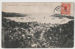 DK-W019 / Facit 33 Auf Ansichtskarte St. Thomas 1907 Nach Paris - Denmark (West Indies)