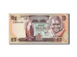 Zambie, 5 Kwacha, Non Daté (1980-88), KM:25c, NEUF - Zambie